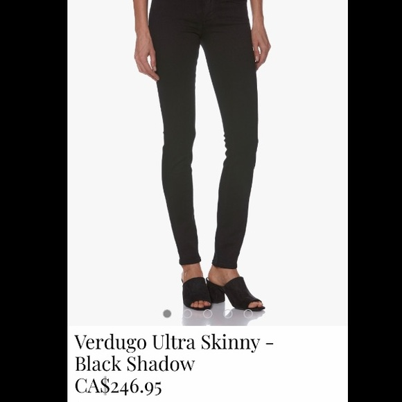 Paige Verdugo Ultra Skinny - Black Shadow